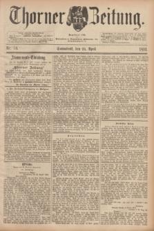 Thorner Zeitung : Begründet 1760. 1893, Nr. 94 (22 April)