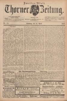 Thorner Zeitung : Begründet 1760. 1893, Nr. 95 (23 April) - Zweites Blatt