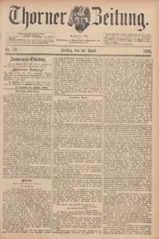 Thorner Zeitung : Begründet 1760. 1893, Nr. 99 (28 April)