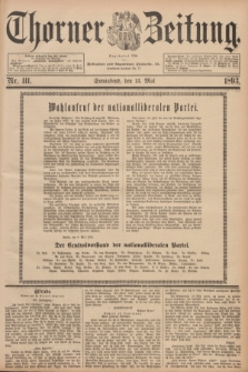 Thorner Zeitung : Begründet 1760. 1893, Nr. 111 (13 Mai)
