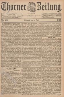 Thorner Zeitung : Begründet 1760. 1893, Nr. 161 (12 Juli)