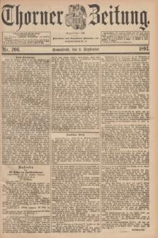Thorner Zeitung : Begründet 1760. 1893, Nr. 206 (2 September)