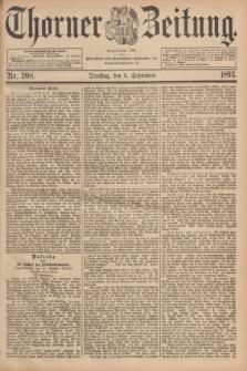 Thorner Zeitung : Begründet 1760. 1893, Nr. 208 (5 September)