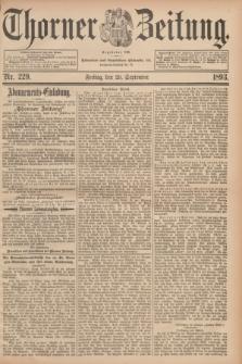 Thorner Zeitung : Begründet 1760. 1893, Nr. 229 (29 September)