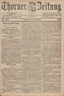Thorner Zeitung : Begründet 1760. 1893, Nr. 280 (29 November)