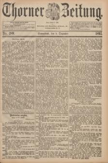 Thorner Zeitung : Begründet 1760. 1893, Nr. 289 (9 November)