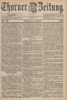 Thorner Zeitung : Begründet 1760. 1893, Nr. 291 (12 Dezember)