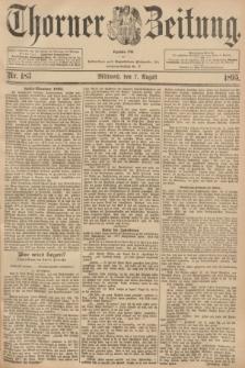 Thorner Zeitung : Begründet 1760. 1895, Nr. 183 (7 August)