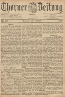Thorner Zeitung : Begründet 1760. 1895, Nr. 210 (7 September)
