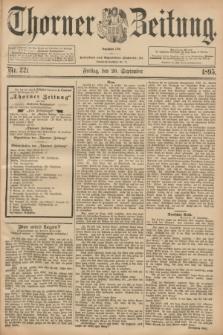 Thorner Zeitung : Begründet 1760. 1895, Nr. 221 (20 September) + dod.