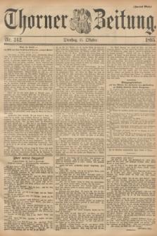 Thorner Zeitung : Begründet 1760. 1895, Nr. 242 (15 Oktober) - Zweites Blatt