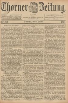 Thorner Zeitung : Begründet 1760. 1895, Nr. 244 (17 Oktober)