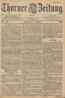 Thorner Zeitung : Begründet 1760. 1895, Nr. 259 (3 November) - Erstes Blatt + dod.