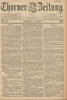 Thorner Zeitung : Begründet 1760. 1895, Nr. 289 (10 Dezember) - Erstes Blatt