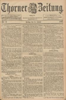 Thorner Zeitung : Begründet 1760. 1897, Nr. 12 (15 Januar)