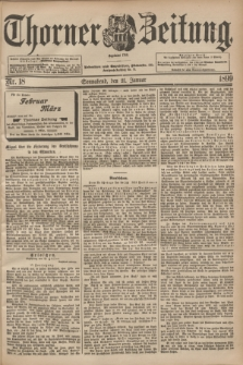 Thorner Zeitung : Begründet 1760. 1899, Nr. 18 (21 Januar)