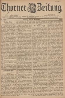Thorner Zeitung : Begründet 1760. 1899, Nr. 213 (10 September) - Erstes Blatt
