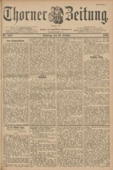 Thorner Zeitung : Begründet 1760. 1899, Nr. 243 (15 Oktober) - Erstes Blatt