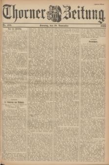 Thorner Zeitung. 1899, Nr. 273 (19 November) - Zweites Blatt