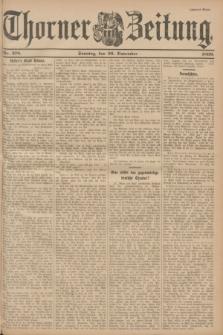 Thorner Zeitung. 1899, Nr. 278 (26 November) - Zweites Blatt