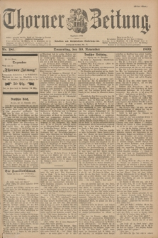 Thorner Zeitung : Begründet 1760. 1899, Nr. 281 (30 November) - Erstes Blatt