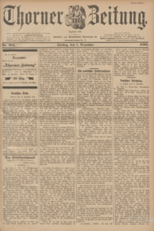 Thorner Zeitung : Begründet 1760. 1899, Nr. 282 (1 Dezember) - Erstes Blatt