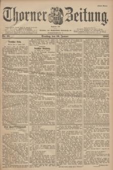 Thorner Zeitung : Begründet 1760. 1900, Nr. 12 (16 Januar) - Erstes Blatt