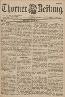 Thorner Zeitung : Begründet 1760. 1900, Nr. 86 (12 April) - Erstes Blatt
