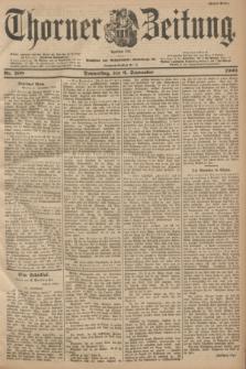 Thorner Zeitung : Begründet 1760. 1900, Nr. 208 (6 September) - Erstes Blatt