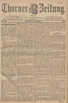 Thorner Zeitung : Begründet 1760. 1900, Nr. 245 (19 Oktober) - Erstes Blatt