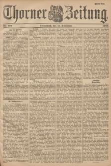 Thorner Zeitung. 1900, Nr. 270 (17 November) - Zweites Blatt