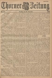 Thorner Zeitung. 1900, Nr. 272 (20 November) - Zweites Blatt