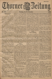 Thorner Zeitung. 1900, Nr. 277 (27 November) - Zweites Blatt