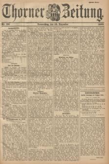 Thorner Zeitung. 1900, Nr. 291 (13 Dezember) - Zweites Blatt