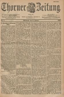 Thorner Zeitung : Begründet 1760. 1901, Nr. 7 (9 Januar) - Erstes Blatt