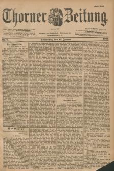 Thorner Zeitung : Begründet 1760. 1901, Nr. 8 (10 Januar) - Erstes Blatt