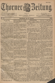 Thorner Zeitung : Begründet 1760. 1901, Nr. 10 (12 Januar) - Erstes Blatt