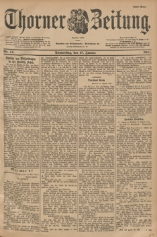 Thorner Zeitung : Begründet 1760. 1901, Nr. 14 (17 Januar) - Erstes Blatt