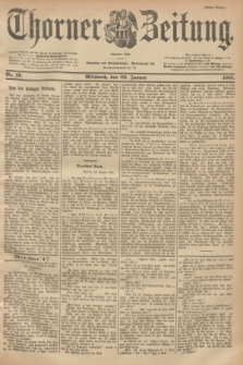 Thorner Zeitung : Begründet 1760. 1901, Nr. 19 (23 Januar) - Erstes Blatt