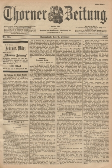 Thorner Zeitung : Begründet 1760. 1901, Nr. 28 (2 Februar) - Erstes Blatt