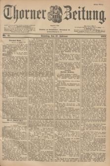 Thorner Zeitung : Begründet 1760. 1901, Nr. 41 (17 Februar) - Erstes Blatt