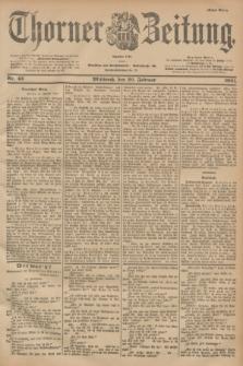 Thorner Zeitung : Begründet 1760. 1901, Nr. 43 (20 Februar) - Erstes Blatt