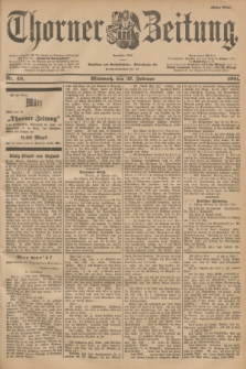 Thorner Zeitung : Begründet 1760. 1901, Nr. 49 (27 Februar) - Erstes Blatt