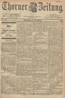 Thorner Zeitung : Begründet 1760. 1901, Nr. 50 (28 Februar) - Erstes Blatt