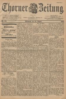 Thorner Zeitung : Begründet 1760. 1901, Nr. 201 (28 August) - Erstes Blatt