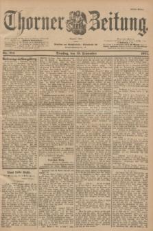 Thorner Zeitung : Begründet 1760. 1901, Nr. 212 (10 September) - Erstes Blatt