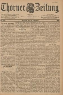 Thorner Zeitung : Begründet 1760. 1901, Nr. 219 (18 September) - Erstes Blatt