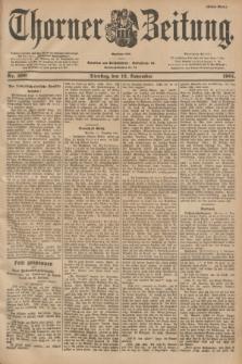 Thorner Zeitung : Begründet 1760. 1901, Nr. 266 (12 November) - Erstes Blatt
