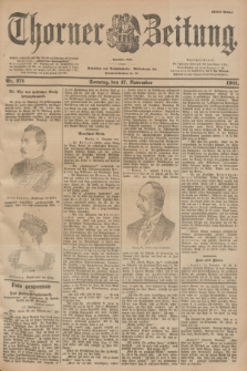 Thorner Zeitung : Begründet 1760. 1901, Nr. 271 (17 November) - Erstes Blatt