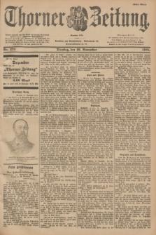 Thorner Zeitung : Begründet 1760. 1901, Nr. 272 (19 November) - Erstes Blatt